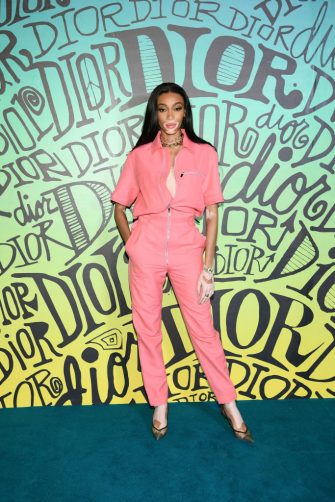 MIAMI, FLORIDA - DECEMBER 03: Winnie Harlow attends the Dior Men's Fall 2020 Runway Show on December 03, 2019 in Miami, Florida. (Photo by Dimitrios Kambouris/Getty Images for Dior Men)