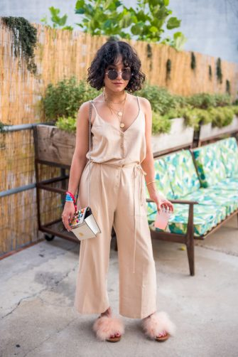 BROOKLYN, NY - JUNE 30:  (EXCLUSIVE COVERAGE) Vanessa Hudgens attends the 2018 Full Moon Festival at The Knockdown on June 30, 2018 in Brooklyn, New York.  (Photo by Steven Ferdman/Getty Images)