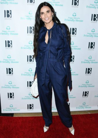BEVERLY HILLS, CALIFORNIA - OCTOBER 26:  Demi Moore attends Friendly House 30th Annual Awards Luncheon at The Beverly Hilton Hotel on October 26, 2019 in Beverly Hills, California. (Photo by Jon Kopaloff/Getty Images,)