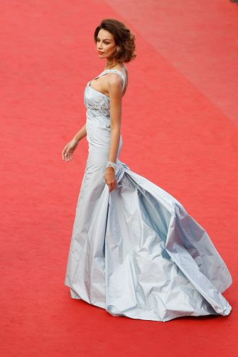 """CANNES, FRANCE - MAY 19:  Model Madalina Ghenea attends the """"Lawless"""" Premiere during the 65th Annual Cannes Film Festival at Palais des Festivals on May 19, 2012 in Cannes, France.  (Photo by Andreas Rentz/Getty Images)"""