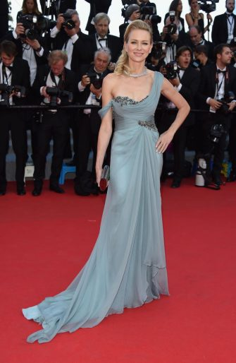 """CANNES, FRANCE - MAY 16:  Naomi Watts attends the """"How To Train Your Dragon 2"""" Premiere at the 67th Annual Cannes Film Festival on May 16, 2014 in Cannes, France.  (Photo by Venturelli/WireImage)"""