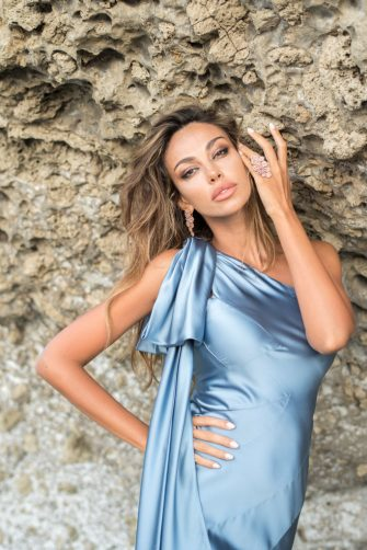 ISCHIA, ITALY - JULY 17: Madalina Ghenea poses for portrait session during the 2020 Ischia Global Film & Music Fest on July 17, 2020 in Ischia, Italy. (Photo by Daniele Venturelli/Getty Images)