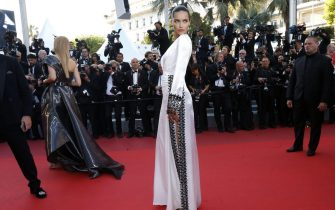 epa05312491 Brazilian model Adriana Lima arrives for the screening of 'Julieta' during the 69th annual Cannes Film Festival, in Cannes, France, 17 May 2016. The movie is presented in the Official Competition of the festival which runs from 11 to 22 May.  EPA/IAN LANGSDON