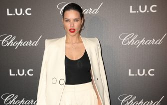Adriana Lima attends Chopard and Annabel's The Gentleman's Evening At The Hotel Martinez at Hotel Martinez on May 21, 2019 in Cannes, France.