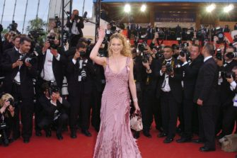 """Anna Falchi during 2005 Cannes Film Festival - """"Match Point"""" - Premiere in Cannes, France. (Photo by George Pimentel/WireImage)"""