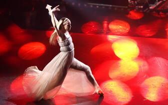 Italian dancer Eleonora Abbagnato performs on stage at the Ariston theatre during the 69th Sanremo Italian Song Festival, Sanremo, Italy, 08 February 2019. The festival runs from 05 to 09 February.   ANSA/RICCARDO ANTIMIANI