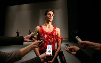MOSCOW, RUSSIA - DECEMBER 20, 2016: Ballet dancer Jacopo Tissi gives a press briefing on a concert marking the 80th birth anniversary of ballet dancer Maris Liepa, at the Bolshoi Theatre. Artyom Geodakyan/TASS