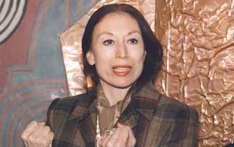 Luciana Savignano alla presentazione di uno spettacolo di danza