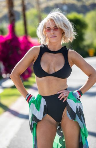 INDIO, CA - APRIL 12: Professional wrestler, CJ 'Lana' Perry is seen on April 12, 2019 in Indio, California.  (Photo by TSM/Bauer-Griffin/GC Images)