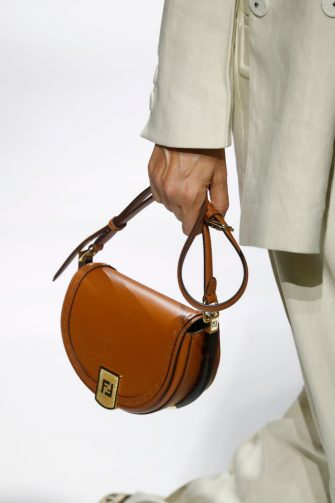MILANO, ITALY â   September 23: Bag detail during the Fendi Fashion show as part of the Milano Fashion Week Spring/Summer 2021 on September 23, 2020 in Milano, Italy. (Photo by Estrop/Getty Images)
