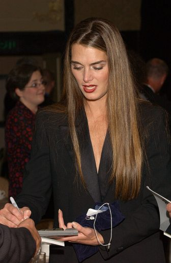 Brooke Shields signs autographs (Photo by Arun Nevader/WireImage)