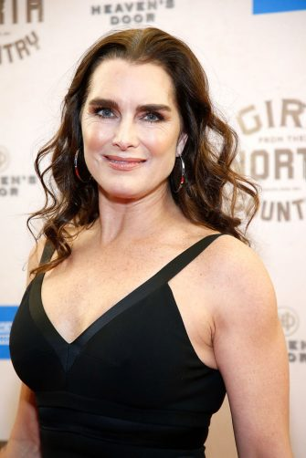 """NEW YORK, NEW YORK - MARCH 05: Brooke Shields attends """"Girl From The North Country"""" Broadway opening night at Belasco Theatre on March 05, 2020 in New York City. (Photo by John Lamparski/Getty Images)"""