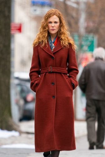 NEW YORK, NEW YORK - MARCH 29: Nicole Kidman is seen on the set of 'The Undoing' in the Upper East Side on March 29, 2019 in New York City. (Photo by Gotham/GC Images)