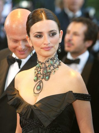 """CANNES, FRANCE - MAY 14:  Actress Penelope Cruz attends the opening ceremony of the 56th International Cannes Film Festival 2003 and the premiere of """"FanFan La Tulipe"""" at the Palais des Festivals May 14, 2003 in Cannes, France. (Photo by Pascal Le Segretain/Getty Images)"""