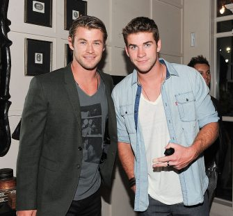 (EXCLUSIVE COVERAGE) Actors Chris Hemsworth (L) and Liam Hemsworth celebrate Liam Hemsworth's Birthday Party at Cleo at the Redbury Hotel on January 14, 2011 in Los Angeles, California. ***Exclusive*** (Photo by Michael Kovac/WireImage)