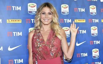 La presentatrice tv Diletta Leotta in occasione della presentazione del Calendario della Serie A 2018-2019 nella sede di Sky Italia. Milano, 26 Luglio 2018. ANSA/FLAVIO LO SCALZO