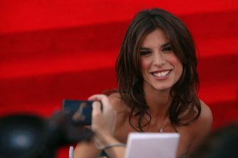 """VENICE, ITALY - SEPTEMBER 08:  Elisabetta Canalis attends """"The Men Who Stare At Goats"""" premiere at the Sala Grande during the 66th Venice Film Festival on September 8, 2009 in Venice, Italy.  (Photo by Dan Kitwood/Getty Images)"""
