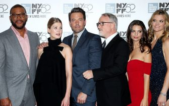 - New York, NY - 9/26/14 - The 2014 New York Film Festival Opening Night Gala Presentation & World Premiere of 20th Century Fox 'Gone Girl'   -PICTURED: Tyler Perry, Rosamund Pike, Ben Affleck, David Finche (Dir.), Emily Ratajkowski, Missy Pyle -PHOTO by: Marion Curtis/Startraksphoto.com -File name: MC_14_958146.JPG -Location: Alice Tully Hall at the Lincoln Center    For licensing please call 212-414-9464 or email sales@startraksphoto.com