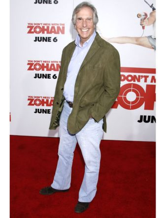"HOLLYWOOD, CA. - MAY 28: Henry Winkler arrives at Sony Pictures Premiere of ""You Don't Mess With the Zohan"" at the Grauman's Chinese Theatre on May 28, 2008 in Hollywood, California. (Photo by Jeffrey Mayer/WireImage)"