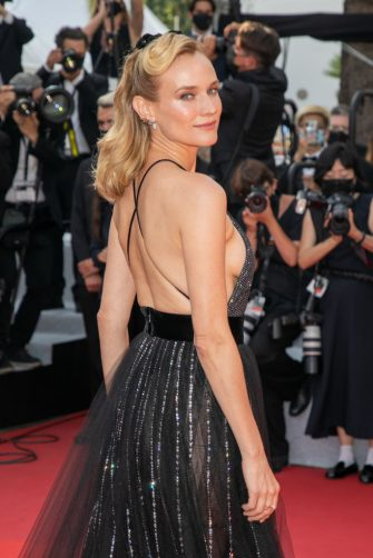 """CANNES, FRANCE - JULY 07: Actress Diane Kruger attends the """"Tout S'est Bien Passe (Everything Went Fine)"""" screening during the 74th annual Cannes Film Festival on July 07, 2021 in Cannes, France. (Photo by Marc Piasecki/FilmMagic)"""