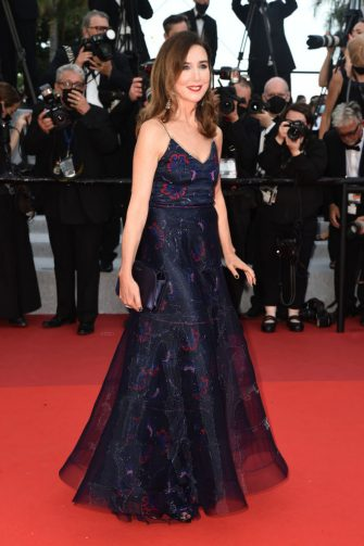 """CANNES, FRANCE - JULY 07: Elsa Zylberstein attends the """"Tout S'est Bien Passe (Everything Went Fine)"""" screening during the 74th annual Cannes Film Festival on July 07, 2021 in Cannes, France. (Photo by Dominique Charriau/WireImage)"""