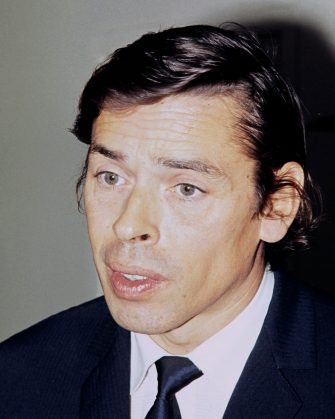 Picture taken in November 1969 in Le Havre, northern France, of Belgian singer Jacques Brel. (Photo by - / AFP)        (Photo credit should read -/AFP via Getty Images)