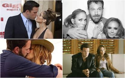 Jennifer Lopez e Ben Affleck, bacio sui social. Le tappe della storia