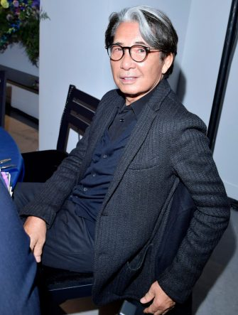 PARIS, FRANCE - MARCH 01: Kenzo Takada attends Kenzo La Collection Momento N°1 event at Kenzo Headquarters on March 1, 2017 in Paris, France. (Photo by Victor Boyko/Getty Images for Kenzo)