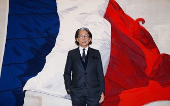 PARIS, FRANCE - JUNE 02:   Kenzo Takada is honoured with the insignes of Chevalier De La Legion D'Honneur at Conseil Constitutionnel on June 2, 2016 in Paris, France.  (Photo by Bertrand Rindoff Petroff/Getty Images)