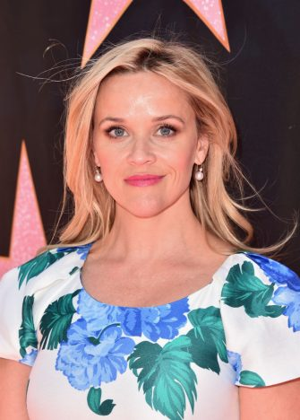BEVERLY HILLS, CA - APRIL 16:  Reese Witherspoon attends Eva Longoria's Hollywood Star Ceremony Post-Luncheon on April 16, 2018 in Beverly Hills, California.  (Photo by Alberto E. Rodriguez/Getty Images)