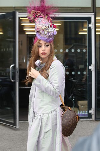LONDON, UNITED KINGDOM - SEPTEMBER 10: Lady Gaga is sighted at the Dorchester Hotel on September 10, 2012 in London, England. (Photo by Alex Moss/FilmMagic)