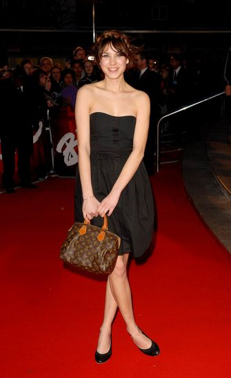 Alexa Chung during The Mastercard Brit Awards 2007 - Outside Arrivals at Earls Court in London, Great Britain. (Photo by Gianfranco Calcagno/FilmMagic)