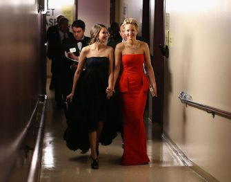 HOLLYWOOD, CA - MARCH 02:  Actress Jennifer Lawrence backstage during the Oscars held at Dolby Theatre on March 2, 2014 in Hollywood, California.  (Photo by Christopher Polk/Getty Images)