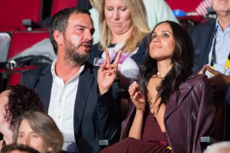 TORONTO, ON - SEPTEMBER 23:  Markus Anderson and Meghan Markle attend the opening ceremonh on  day 1 of the Invictus Games Toronto 2017 on September 23, 2017 in Toronto, Canada.  The Games use the power of sport to inspire recovery, support rehabilitation and generate a wider understanding and respect for the Armed Forces.  (Photo by Samir Hussein/WireImage)