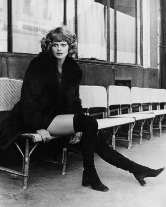 German actress Karin Schubert during a holiday in Paris, France, circa 1972. (Photo by Keystone/Hulton Archive/Getty Images)