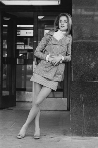 British actress, fashion model and singer Charlotte Rampling at Heathrow Airport, London, UK, 14th March 1968. (Photo by M. Stroud/Daily Express/Getty Images)