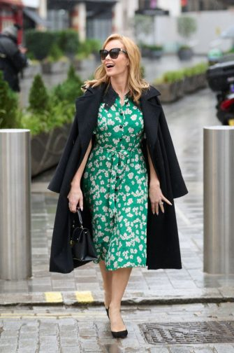 LONDON, ENGLAND - FEBRUARY 3: Amanda Holden pictured leaving Global Radio Studios on February 3, 2021 in London, England. (Photo by A West/MEGA/GC Images)