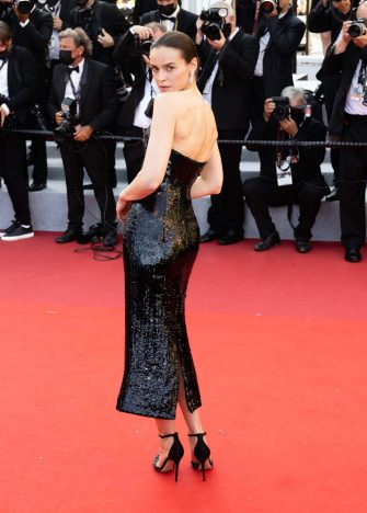 """CANNES, FRANCE - JULY 11: Kasia Smutniak attends the """"Tre Piani (Three Floors)"""" screening during the 74th annual Cannes Film Festival on July 11, 2021 in Cannes, France. (Photo by Samir Hussein/WireImage)"""