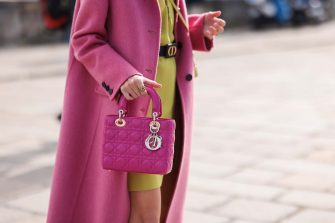 PARIS, FRANCE - SEPTEMBER 28: Leonie Hanne wearing a full dior look outside Dior on September 28, 2021 in Paris, France. (Photo by Jeremy Moeller/Getty Images)