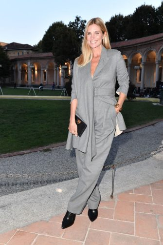 MILAN, ITALY - SEPTEMBER 26: Filippa Lagerbäck attend the Salvatore Ferragamo show during during Milan Fashion Week Spring/Summer 2021 on September 26, 2020 in Milan, Italy. (Photo by Jacopo M. Raule/Getty Images for Ferragamo)