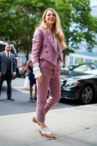 NEW YORK, NY - AUGUST 20:  Blake Lively is seen on August 20, 2018 in New York City.  (Photo by TheStewartofNY/GC Images)