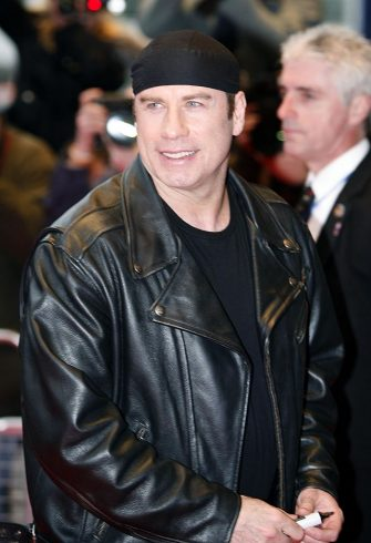 """John Travolta during """"Wild Hogs"""" London Premiere - Red Carpet at Odeon West End in London, Great Britain. (Photo by Richard Lewis/WireImage)"""