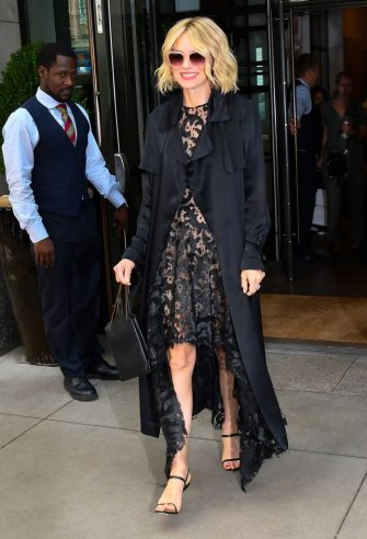 NEW YORK, NY - JULY 24:  Naomi Watts is seen walking in midtown on July 24, 2019 in New York City.  (Photo by Raymond Hall/GC Images)