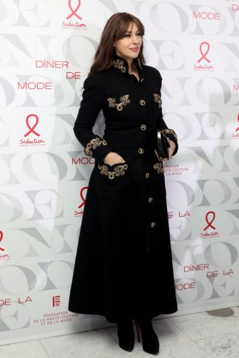 """PARIS, FRANCE - JANUARY 22: Monica Bellucci attends the 17th """"Diner De La Mode"""" as part of Paris Fashion Week on January 22, 2019 in Paris, France. (Photo by Marc Piasecki/Getty Images)"""