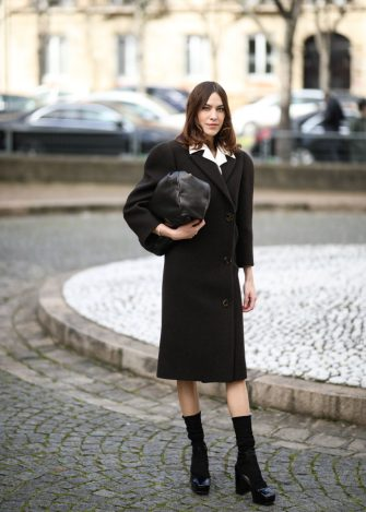PARIS, FRANCE - MARCH 02: Alexa Chung is seen outside the Miu Miu show during Paris Fashion week Womenswear Fall/Winter 2020/2021 Day Eight on March 02, 2020 in Paris, France. (Photo by Jeremy Moeller/Getty Images)