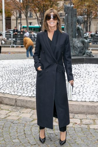 PARIS, FRANCE - OCTOBER 02:  Carine Roitfeld attends the Miu Miu show as part of the Paris Fashion Week Womenswear Spring/Summer 2019 on October 2, 2018 in Paris, France.  (Photo by Marc Piasecki/WireImage)