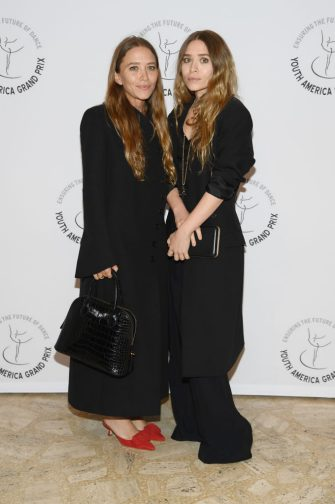 NEW YORK, NEW YORK - APRIL 18: Mary-Kate Olsen and Ashley Olsen attend the Youth America Grand Prix's 20th Anniversary Gala at David H. Koch Theater, Lincoln Center on April 18, 2019 in New York City. (Photo by Dimitrios Kambouris/Getty Images)