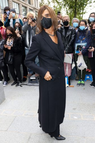PARIS, FRANCE - OCTOBER 06: Carine Roitfeld attends the Louis Vuitton Womenswear Spring/Summer 2021 show as part of Paris Fashion Week on October 06, 2020 in Paris, France. (Photo by Pierre Suu/Getty Images)