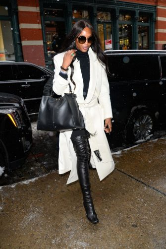 NEW YORK, NY - FEBRUARY 12:  Model Naomi Campbell is seen walking in soho  on February 12, 2019 in New York City.  (Photo by Raymond Hall/GC Images)