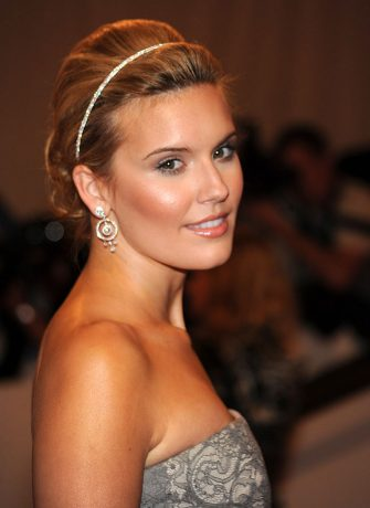 """NEW YORK - MAY 03:  Maggie Grace attends the Costume Institute Gala Benefit to celebrate the opening of the """"American Woman: Fashioning a National Identity"""" exhibition at The Metropolitan Museum of Art on May 3, 2010 in New York City.  (Photo by Kevin Mazur/WireImage)"""